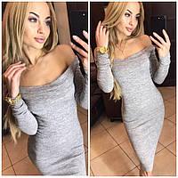 Платье женское миди  ангора софт  ,серый  с 42р по 48р !, фото 1