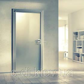Межкомнатные стеклянные двери в алюминиевой коробке