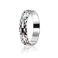 Обручальное кольцо серебряное К2/534 - 15,5