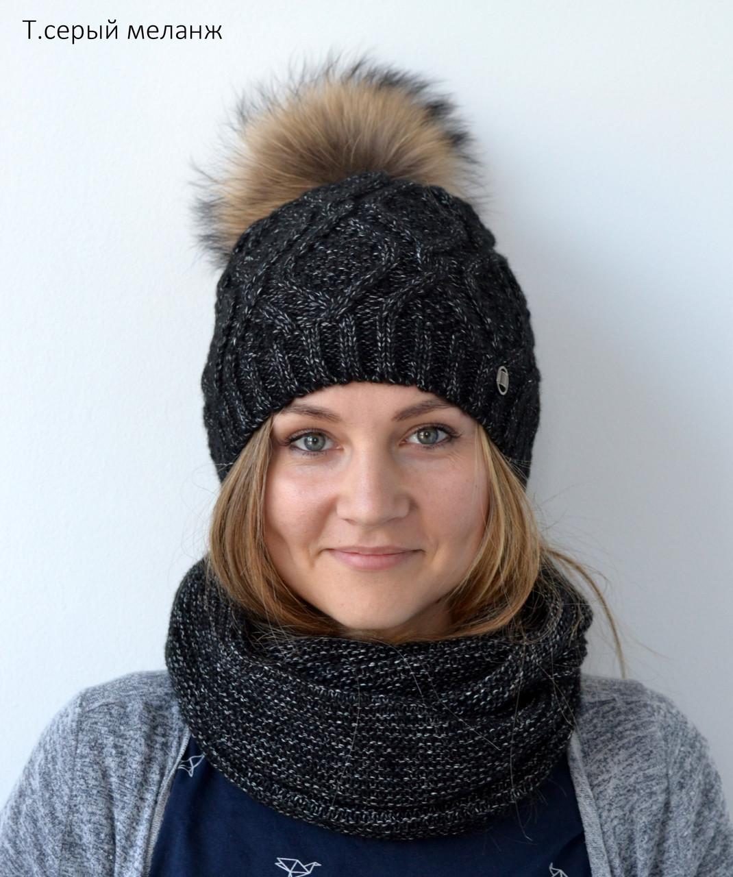 Модная зимняя женская шапка 2018