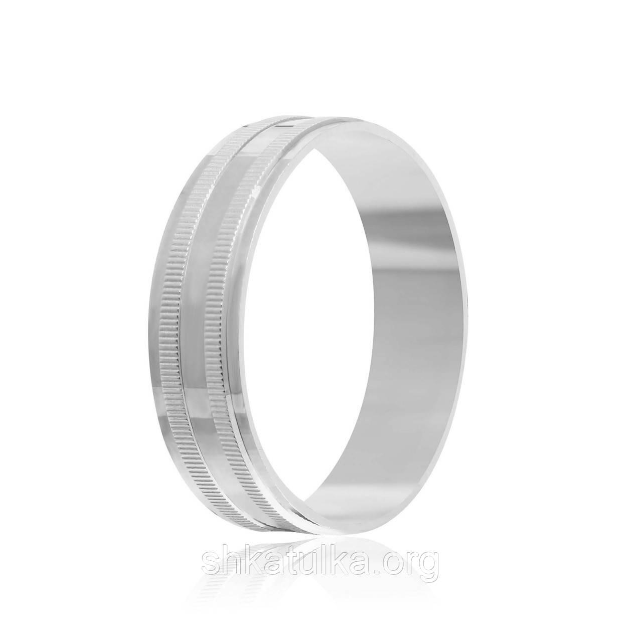 Обручальное кольцо серебряное К2/809 - 21,2