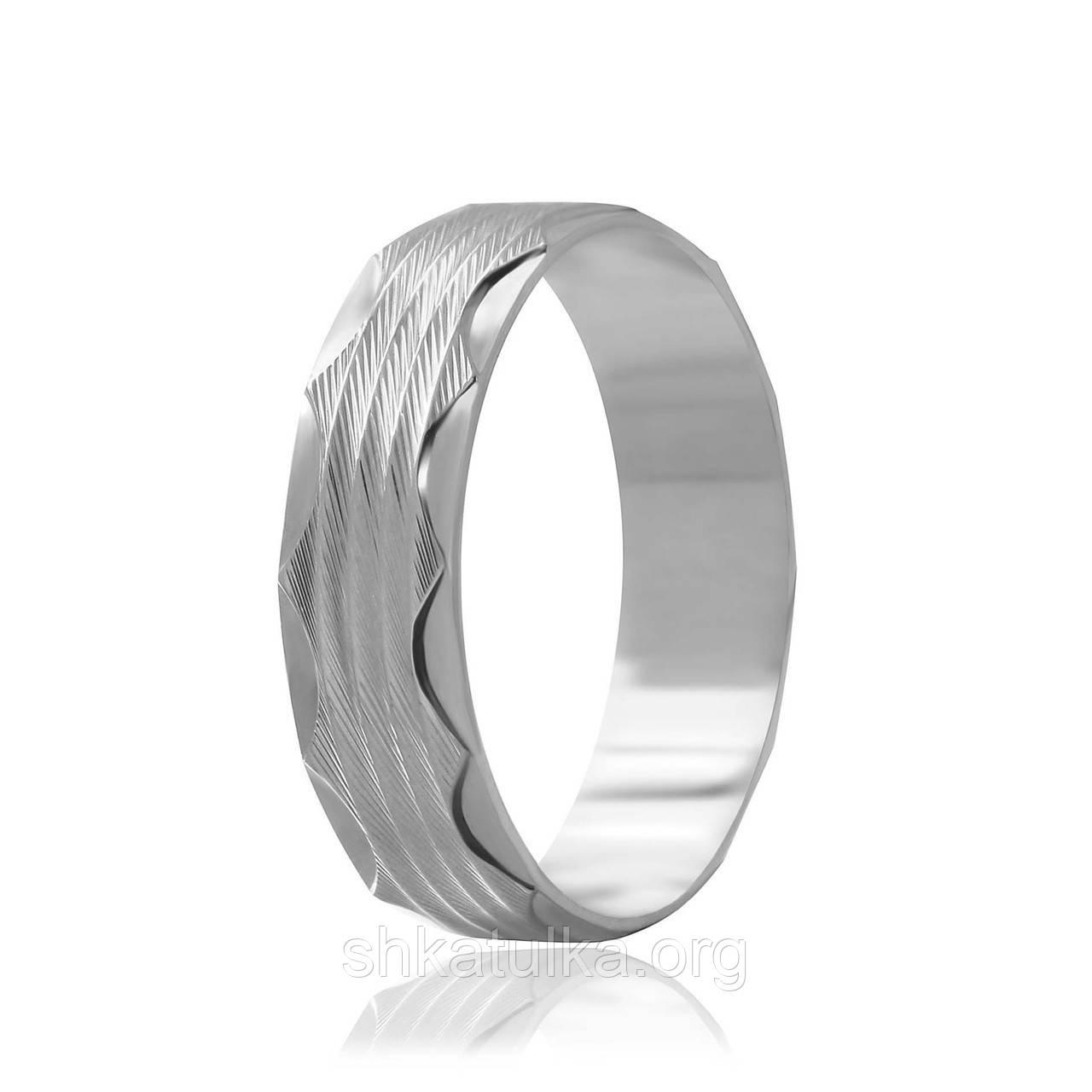 Обручальное кольцо серебряное К2/811 - 17,1