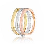 Серебряное кольцо позолоченное К234/421 - 16,8