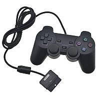 Джойстик PS2 проводной SONY label (желтый блистер)