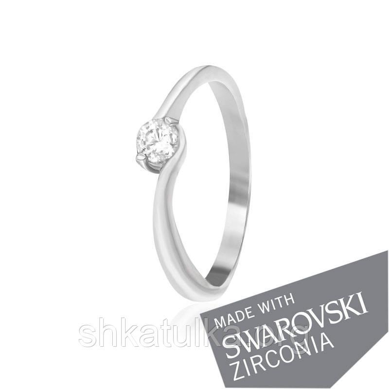 Срібне кільце з цирконієм SWAROVSKI ZIRCONIA К2С/458 - 15,5