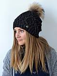 Зимова шапка жіноча в'язана 2018, фото 4