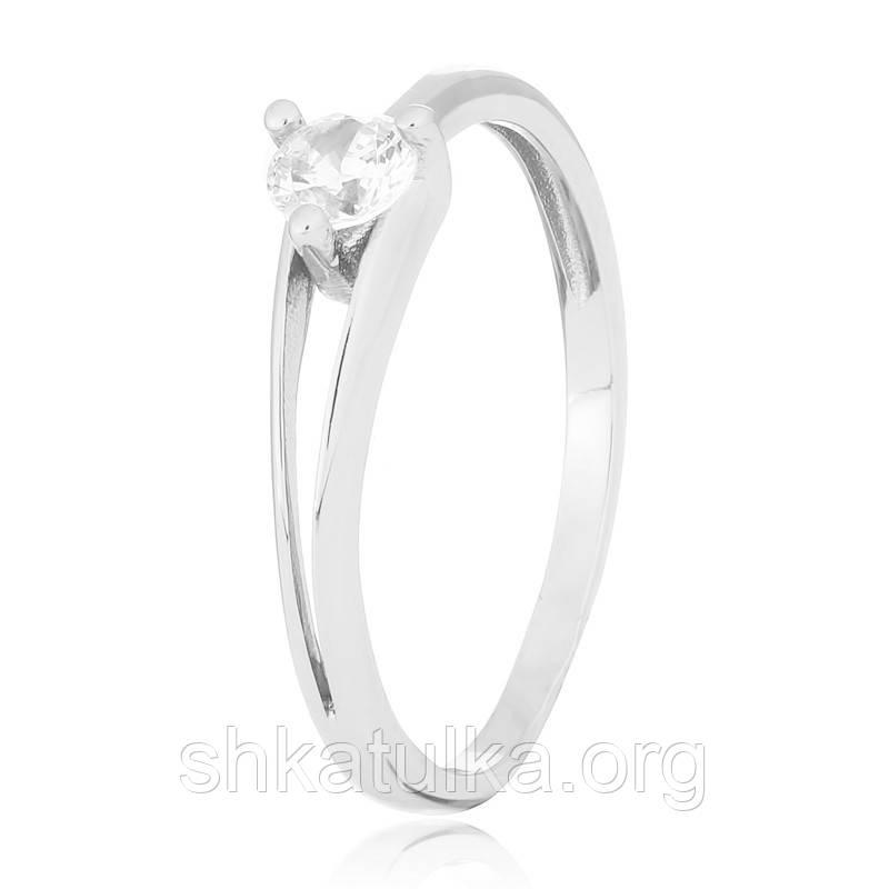 Срібне кільце з фианитом К2Ф/037 - 15,2