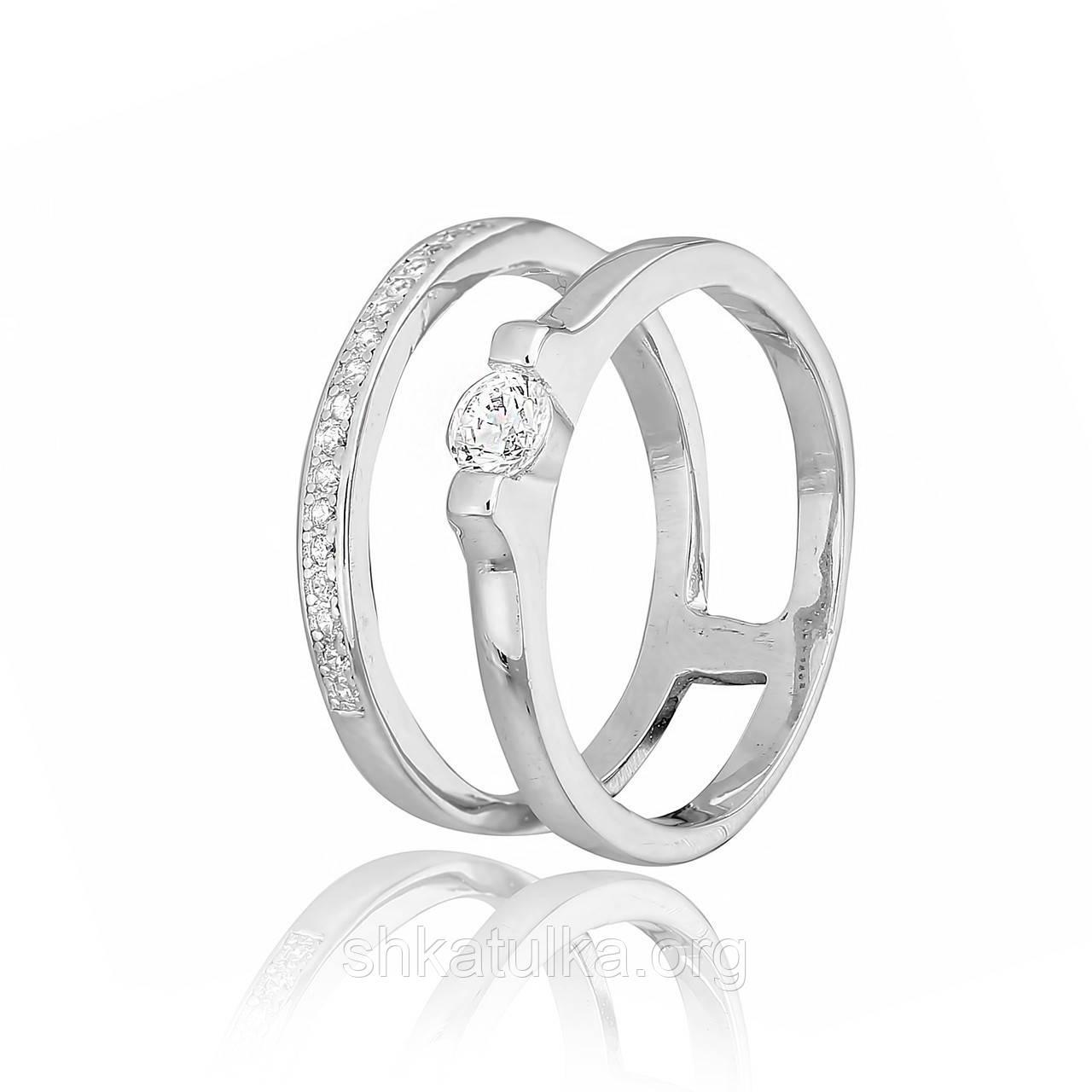 Серебряное кольцо с фианитом К2Ф/249