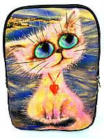 Джинсовый рюкзак Розовая кыця, фото 1