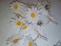 Ромашки тканевые, 4 см