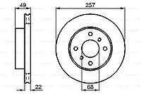Тормозной диск передний Nissan Almera(N16)(2000-) Bosch(0986478567)