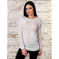 Изящный свитер женский узор Соты p.44-48 P70266-5