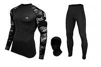 Комплект мужского армейского тактического термобелья Radical Shooter (original), теплое, зимнее, цвет черный