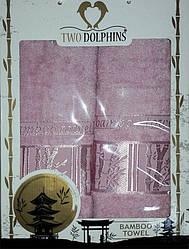 Набор бамбуковых полотенец Bamboo towel pink