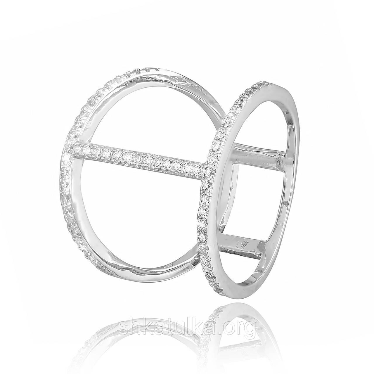 Срібне кільце з фианитом К2Ф/259 - 18,7