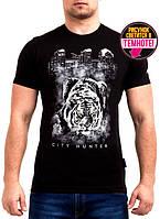 Оригинальная мужская футболка с светящимся рисунком тигра