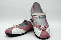 Школьная обувь для девочекТуфли нарядные для девочки 1081/27/белый с ро в наличии 27 р., также есть: 27,30,31,33,34,35,36, Palaris_Дітекс