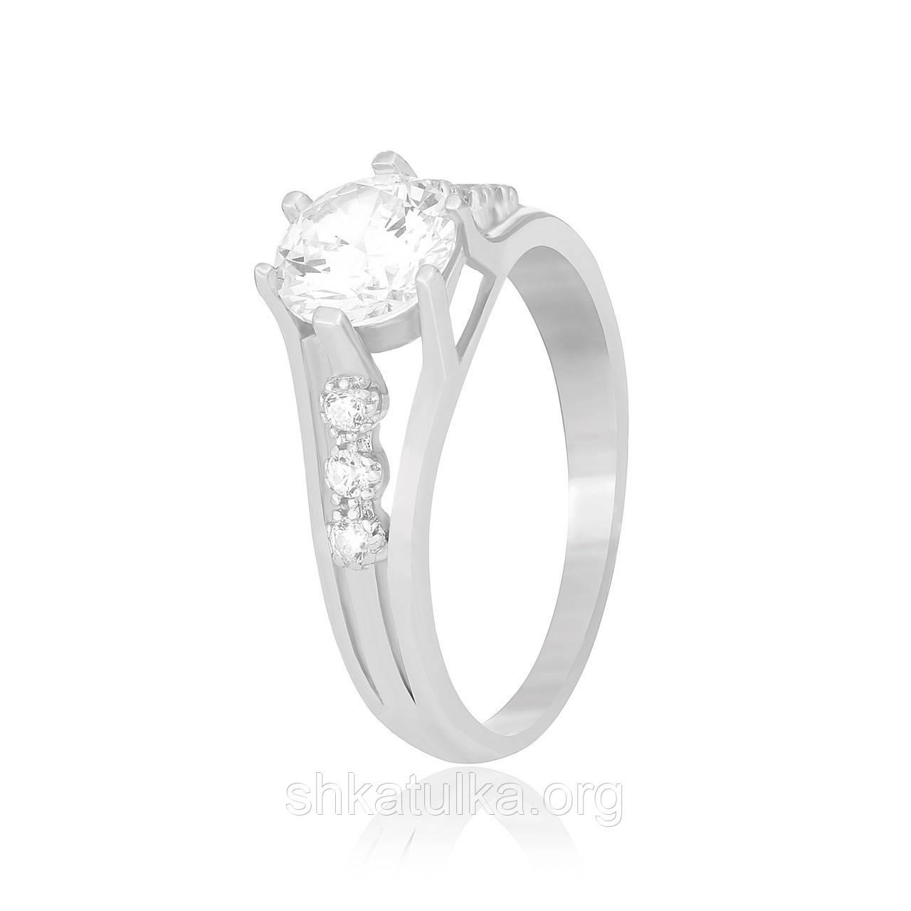 Серебряное кольцо с фианитом К2Ф/740
