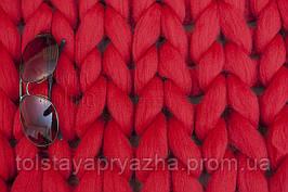 Шерсть для пледа (толстая пряжа) серия Кросс, цвет помада