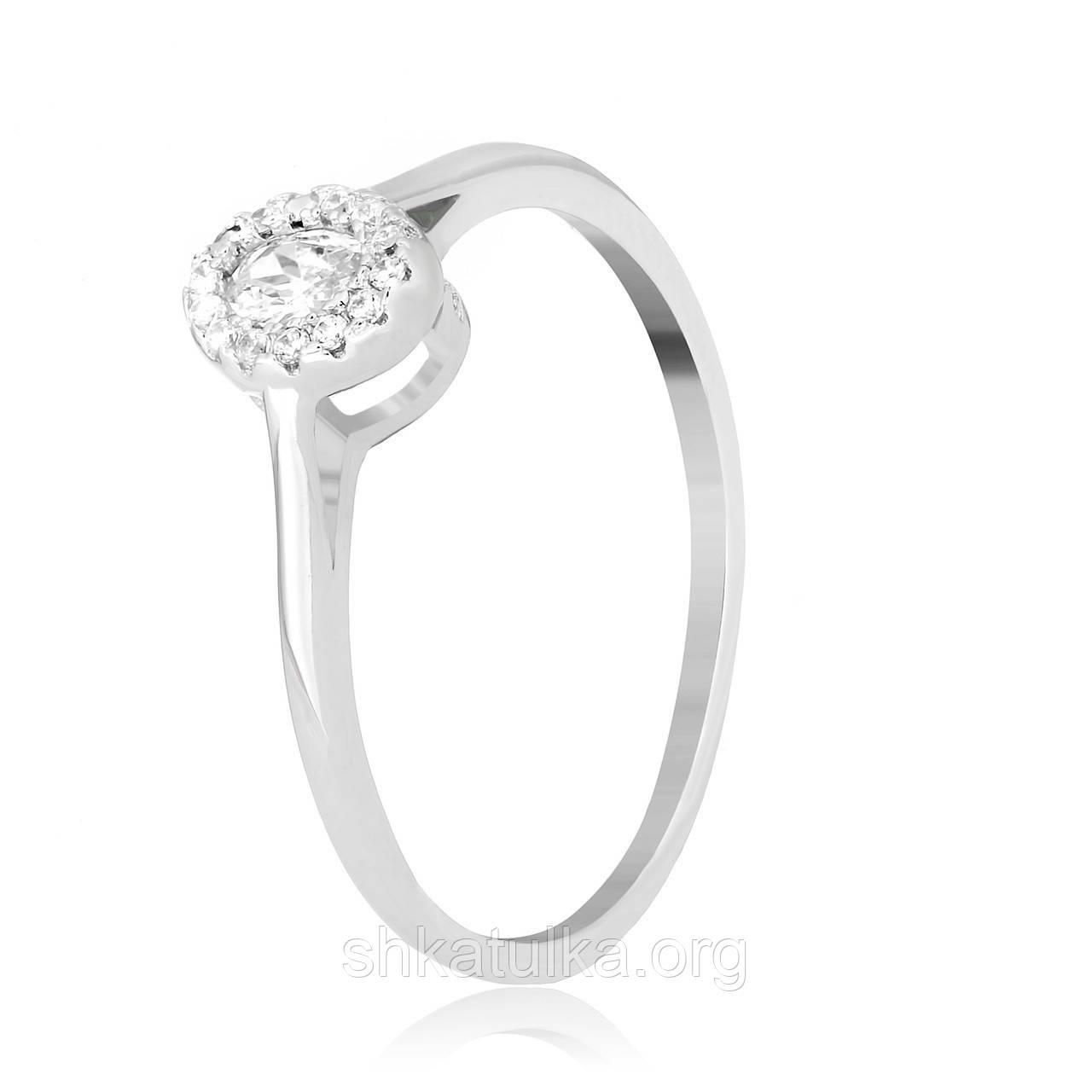 Серебряное кольцо с фианитом К2Ф/756