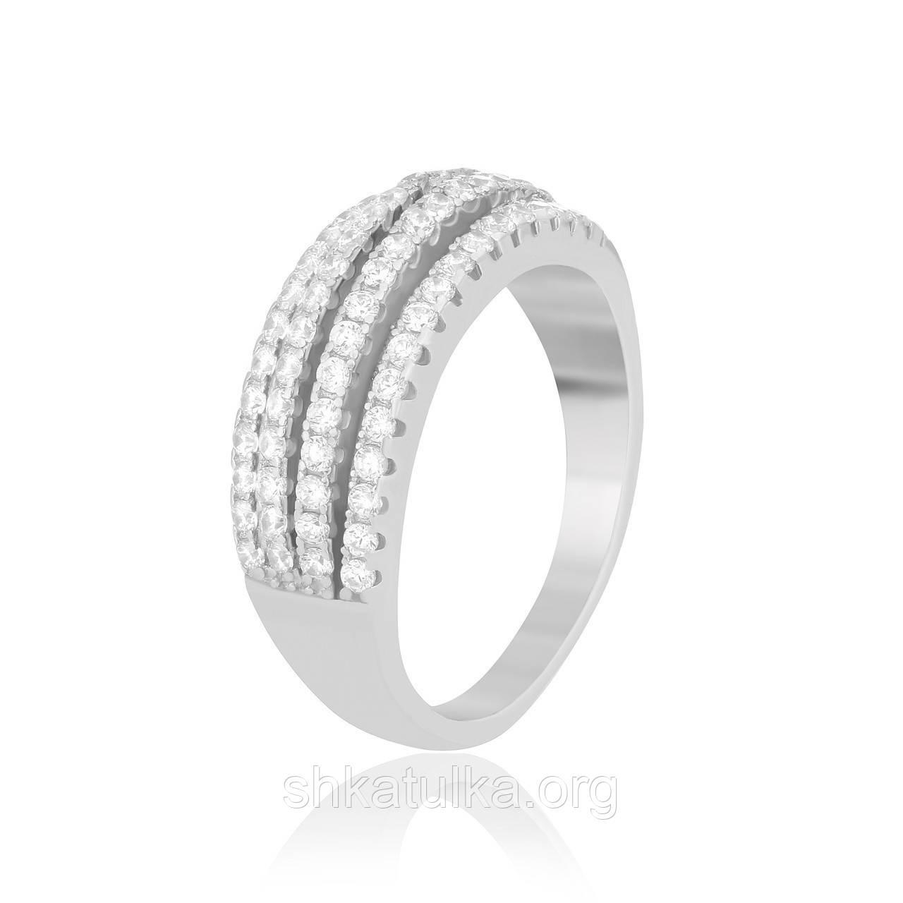 Серебряное кольцо с фианитом К2Ф/762 - 17