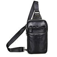 """Рюкзак сумка через плече """"Стиляга New 4"""" натуральная кожа, фото 1"""