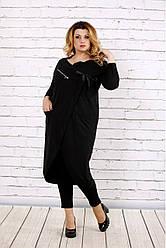 Платье-туника черная