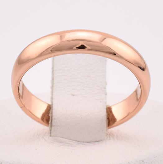 Кольцо обручальное 13872 размер 17, ширина 4 мм, позолота РО