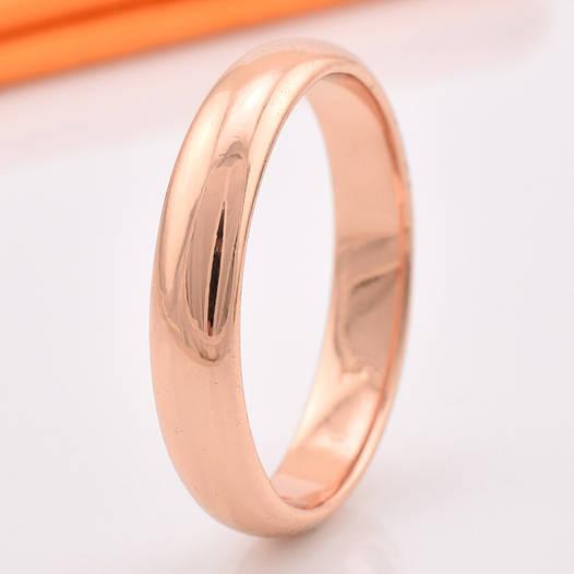 Кольцо обручальное 13872 размер 18, ширина 4 мм, позолота РО