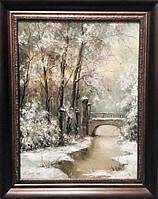 «Январь» картина маслом