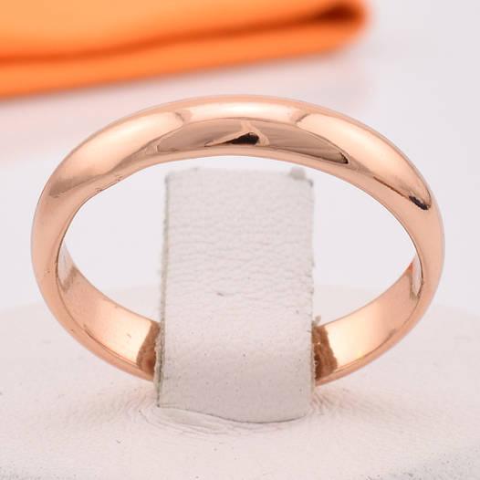 Кольцо обручальное 13872 размер 19, ширина 4 мм, позолота РО