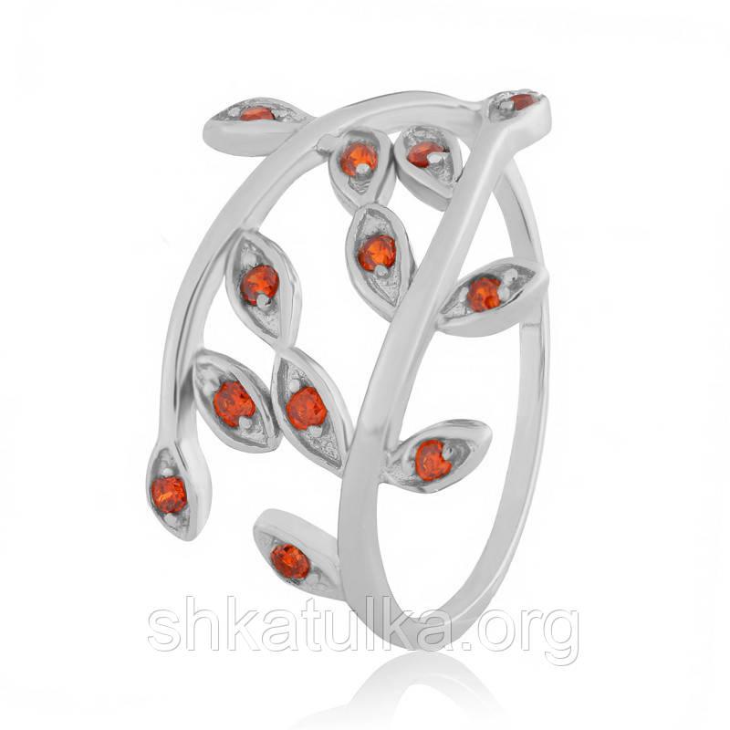 Серебряное кольцо с фианитом К2ФГ/369 - 17,1