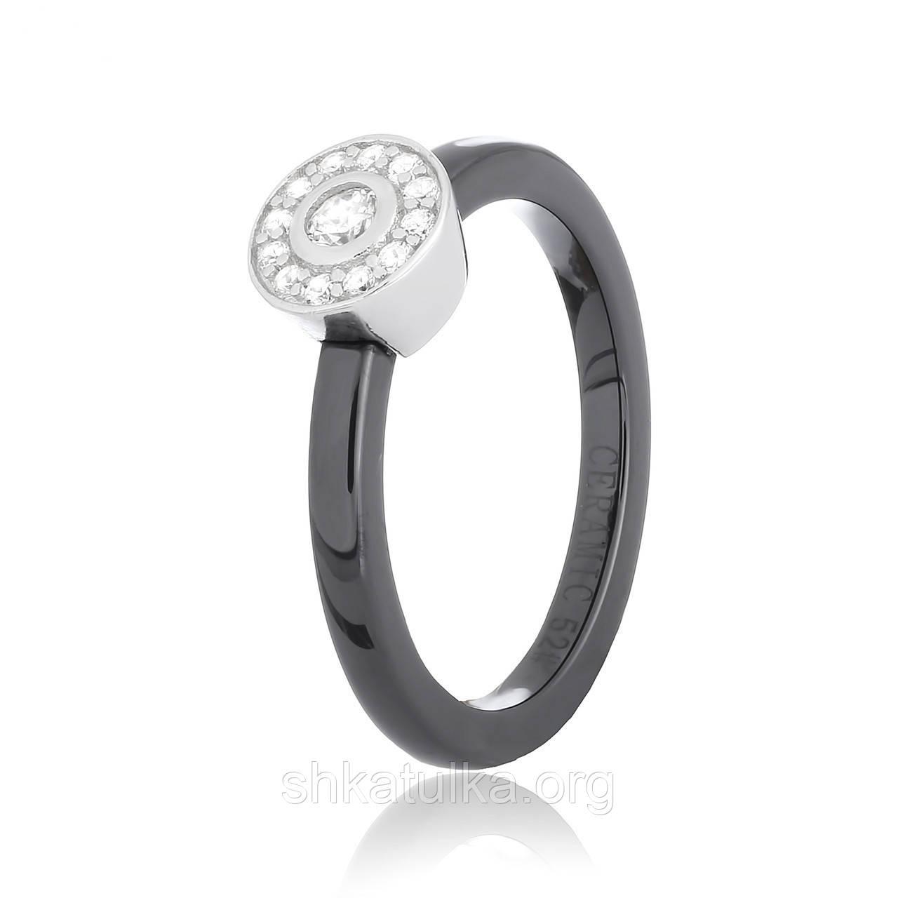 Серебряное кольцо керамическое К2ФК/1011 - 16,5