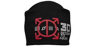 30 SECONDS TO MARS - шапка-бини - вязанная с накаткой