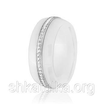 Серебряное кольцо керамическое К2ФК1/1002 - 16