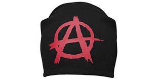 АНАРХИЯ - шапка-бини - вязанная с накаткой