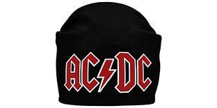 AC/DC (лого) - шапка-бини - вязанная с накаткой