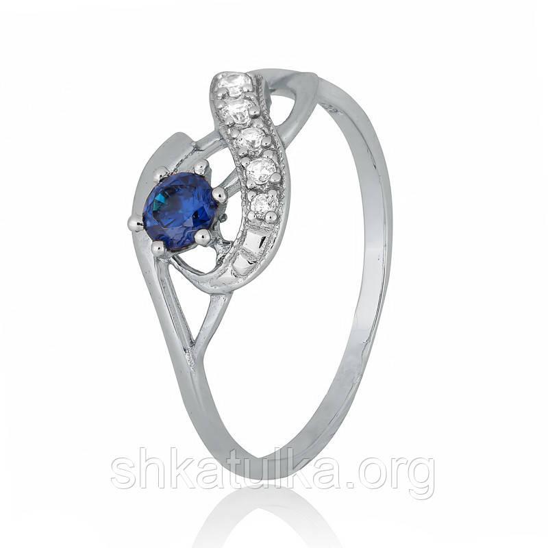 Серебряное кольцо с фианитом К2ФЛТ/154 - 16,2