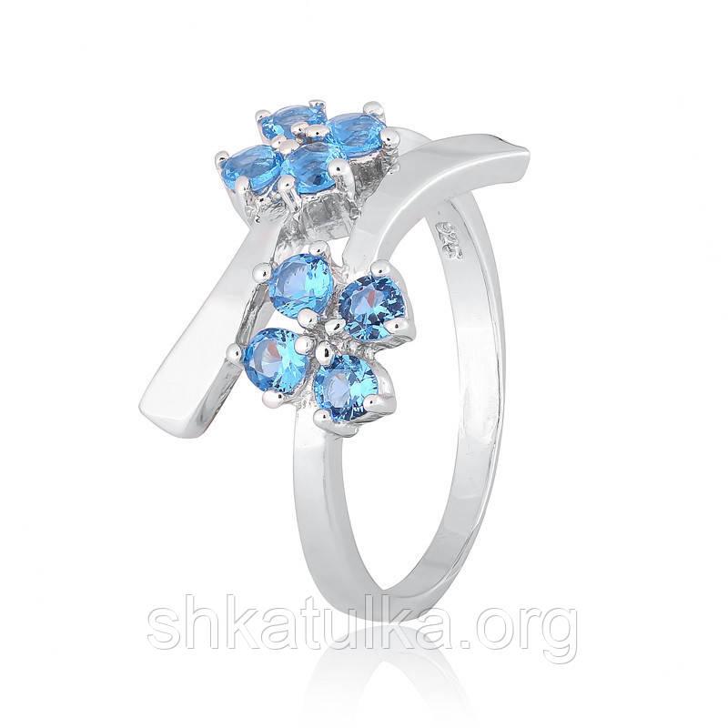 Серебряное кольцо с фианитом К2ФЛТ/304