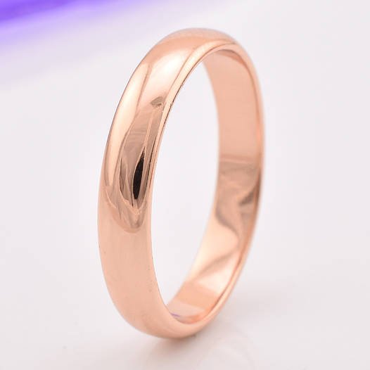 Кольцо обручальное 13872 размер 21, ширина 4 мм, позолота РО