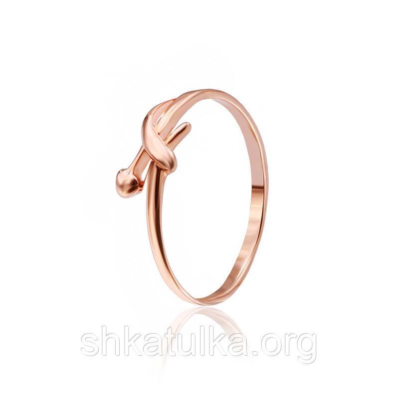 Серебряное кольцо позолоченное К3/511 - 15,5