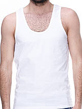 Майка мужская белая, фото 3
