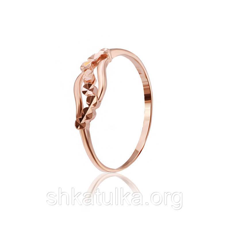 Серебряное кольцо позолоченное К3/516 - 15,5