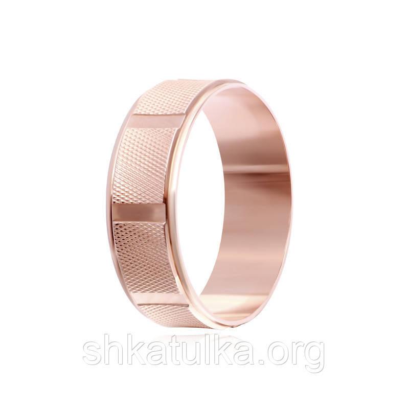 Обручальное кольцо серебряное позолоченное К3/816 - 16,5