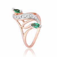 Серебряное кольцо позолоченное с фианитом К3ФИ/149 - 17,4