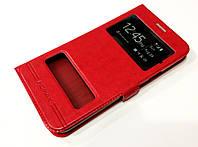Чехол книжка с окошками для Samsung Galaxy J7 SM-J700H (2015) red