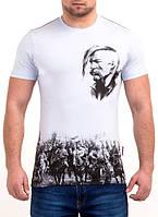 Патриотическая мужская футболка высокого качества