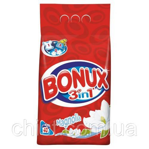 Bonux,стиральный порошок для цветного  3в1,  MAGNOLIA (2,8 кг-40 ст) Германия