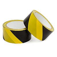 Лента оградительная Rubin 45 мм 100 м желто-черная