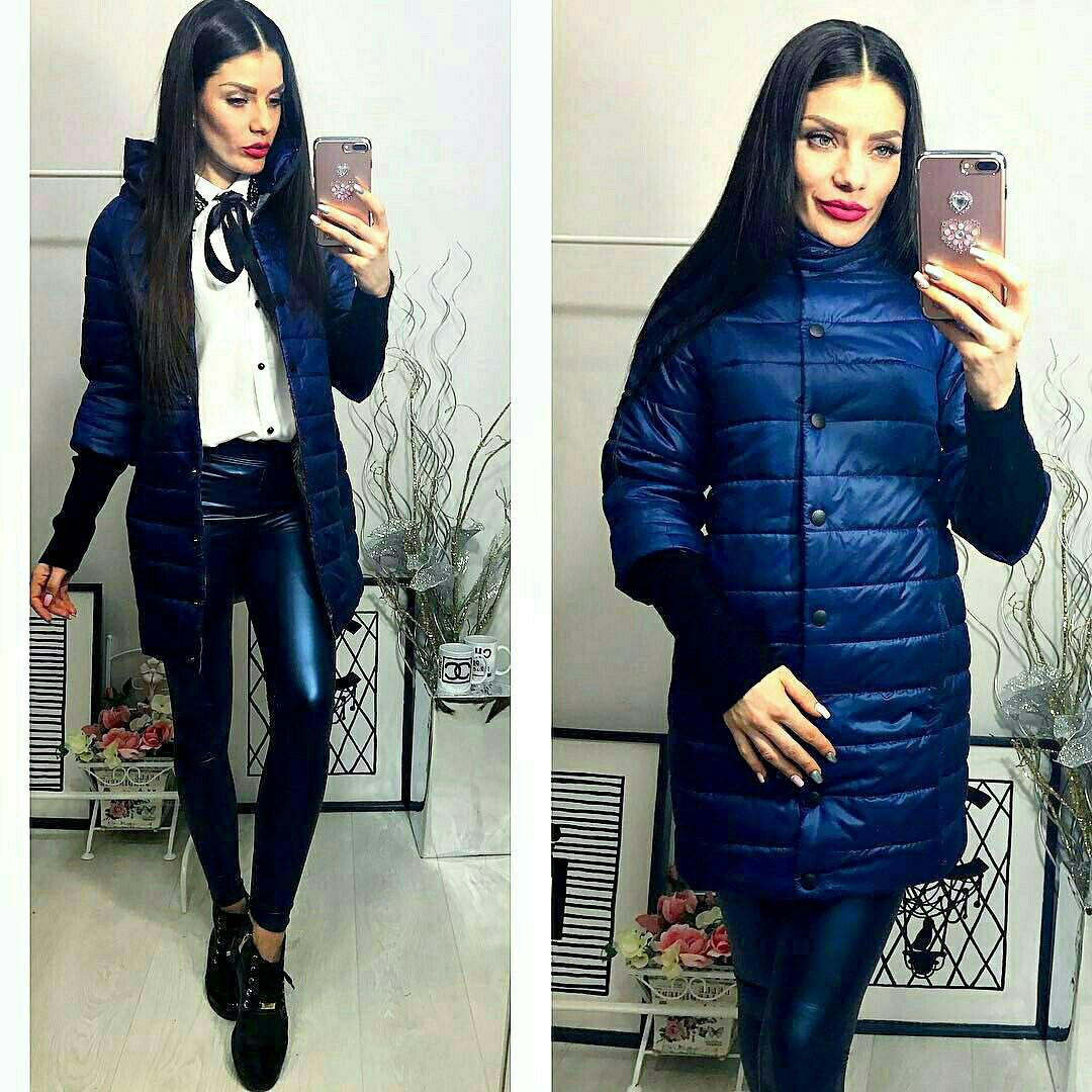 Куртка Давяз, модель 205/2 удлинённая, цвет - темно синий, 42 44 46